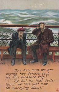 Bamforth Humour Men On Ship D'ye Ken Mon We Area Paying 2 Dollars For This Pl...