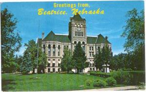 Greetings from Beatrice Nebraska, Gage County Courthouse, NE