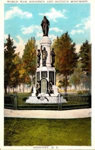New York Endicott World War Soldiers and Sailors Monument 1933