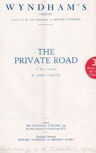 Shaun Glenville Irish Comedian The Private Road Old Theatre Programme