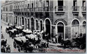 1909 Coffee Advertising Postcard McLAUGHLIN & CO. Rio De Janeiro Offices