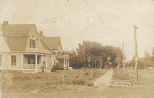 Chamberlain South Dakota~Sanborn Street Homes~1908 Real Photo Postcard~RPPC