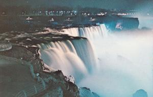 American Falls At Prospect Point & Horseshoe Falls In The Distance, Niagara F...