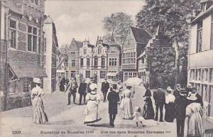 Belgium Bruxelles Exposition 1910 Une rue dans Bruxelles Kermesse