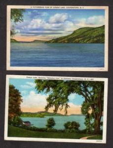 NY Lot 2 Otsego Lake COOPERSTOWN NEW YORK Postcards