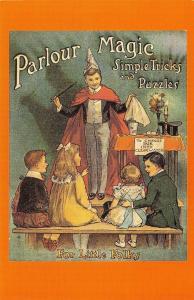 Nostalgia Postcard 1920s Parlour Magic, A Junior Counjuror Repro Card NS8