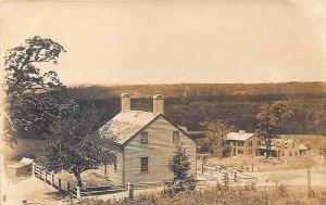 Harvard MA Shaker Village Fruitlands and Shaker Home RPPC Postcard