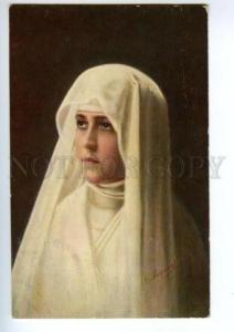139923 Sister Beatrice NUN by MIRONOV vintage Russian color PC