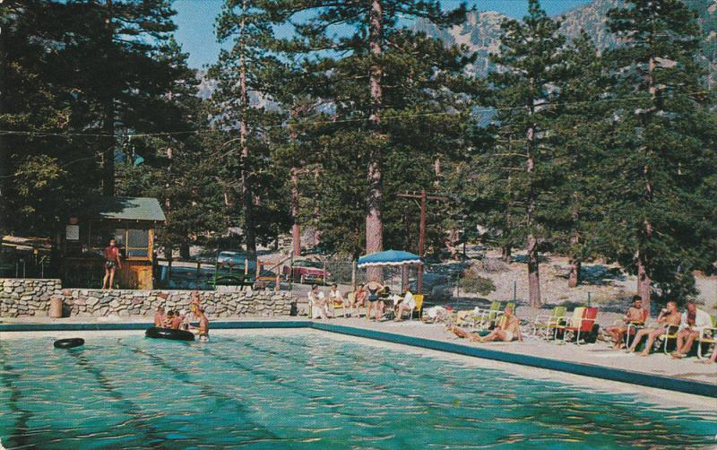Swimming Pool, Snow Crest Resort, MT. BALDY, California, 40-60's