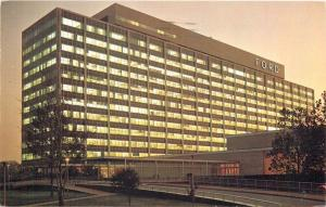 Dearborn Michigan~Ford Motor Company~Central Office Building~Night Lights~1965