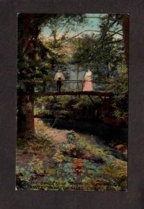 IL Bridge French Canyon Starved Rock Illinois Vintage Postcard La Salle County