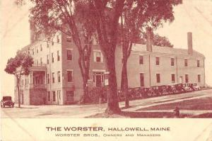 Hallowell Maine The Worster Exterior View Antique Postcard J50997