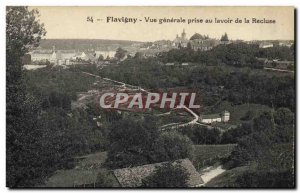 Old Postcard Flavigny Vue Generale socket at the Lavoir of Recluse