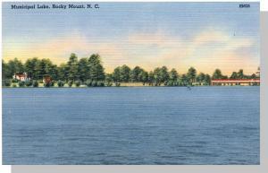 Nice Rocky Mount, NC Postcard, Municipal Lake, Near Mint!