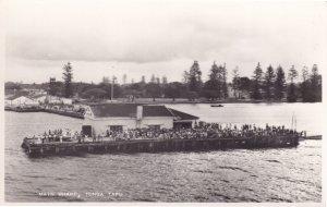 Main Wharf Tonga Tapu Oceanic River Real Photo Postcard
