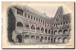 Postcard Old Chateau La Rochefoucauld Charente Facade of the Court