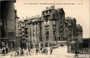 CPA PARIS 18e Rue Marcel-Sembat Angle du Bd Ney (673255)