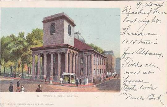 Massachusetts Boston Kings Chapel 1904