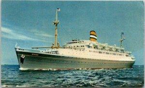 Vintage HOLLAND AMERICA LINE Steamship Postcard S.S. RYNDAM / 1954 Canada Cancel