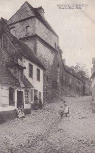 MONTREUIL SUR MER, Pas De Calais, France, 1900-1910s; Rue Du Mont-Hulin