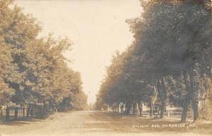 Chadwick Illinois~Homes & Picket Fence on Dirt Calvert Avenue~Sepia RPPC 1907