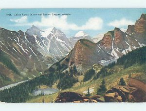 Divided-back NATURE SCENE Laggan At Lake Louise - Near Banff Alberta AB AD5167