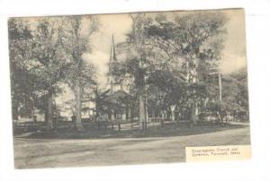 General view of Congregation Church and Common, Falmouth, Massachusetts, 00-10s