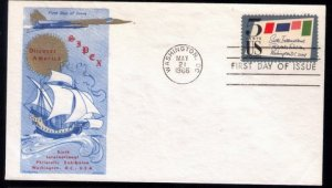 1966 US Sc #1310 FDC SIPEX Great Condition.