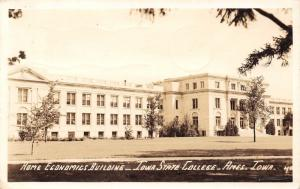 Ames Iowa State College~REal Photo Postcard~Home Economics Building~RPPC 1942