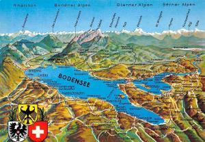 Bodensee Stadtplan Map Friedrichshafen Immenstaad Meersburg Insel Mainau Berg