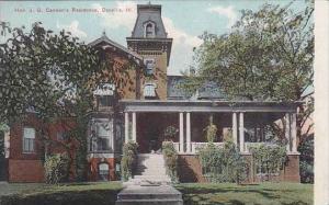 Illinois Danvile Hon J G Cannons Residence