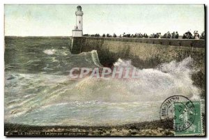 Old Postcard Treport La Jetee By Big Time