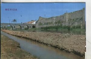 Postal: Merida-Muralla y Puente Romano