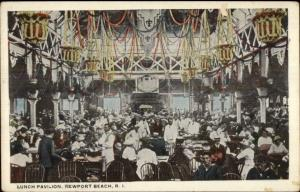 Newport Beach RI Lunch Pavilion c1920 White Border Postcard