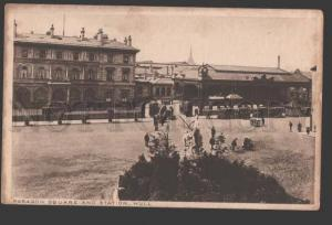 114699 UK England HULL Paragon Square & Station Vintage PC
