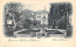 Gruss aus Schloss Hellbrunn Castle Chateau Statues