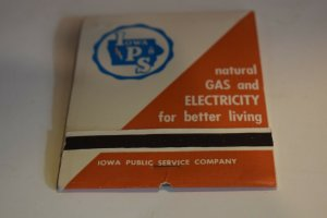 Iowa P S Natural Gas and Electricity for Better Living Oversize Matchbook