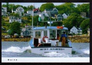 ME Boat Miss Marissa Fishing Boat Deer Isle STONINGTON MAINE Postcard  PC