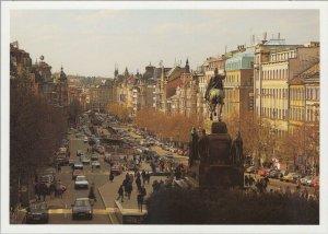 Czech Republic Postcard - Praha - Vaclavske Namesti    RR10591