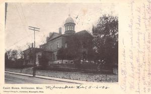 Stillwater Minnesota~Stone Wall Around County Courthouse~Postcard 1906 UDB