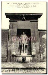 Old Postcard Old Paris Fountain of Egyptian Rue de Sevres Egypt