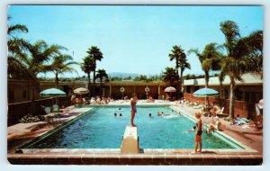 SANTA MONICA, CA ~ The WILLIAM TELL MOTEL  Route 66 c1950s Roadside Postcard