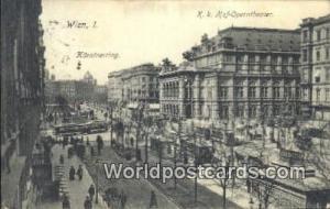 Wien, Vienna Austria, Österreich K K Hof Operntheater  K K Hof Operntheater