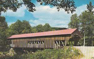 Old Covered Bridge at Covered Bridge Campground Near Albany New Hamshire
