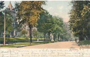 Bicycle on Lake Avenue - Rochester NY, New York - pm 1906 - UDB