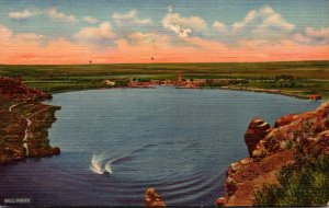 New Mexico Roswell Lea Lake Bottomless Lakes State Park 1957 Curteich