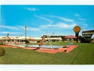 Vintage Post Card Windsor motel Dining Room Summerton AAA  S C   # 4307