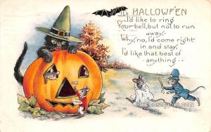 Halloween Post Card Old Vintage Antique Whitney Made Publishing 1923