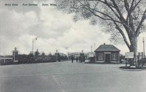 Massachusetts Ayer Main Gate Fort Devens Albertype