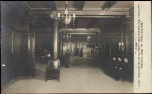 Manhattan New York City Hotel Woodstock Interior c1910 Real Photo Postcard #1